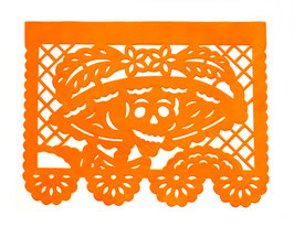"Papel Picado ""Catrina orange"""