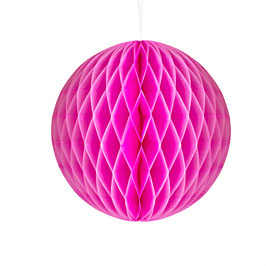 Wabenpapier-Kugel pink