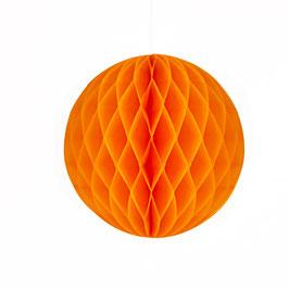 Wabenpapier-Kugel orange