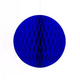 Wabenpapier-Kugel dunkelblau