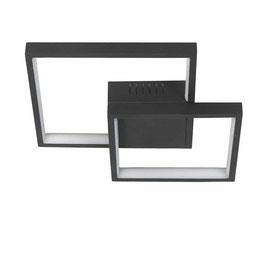 Plafonnière decoratief Vierkant/Rechthoek Zwart