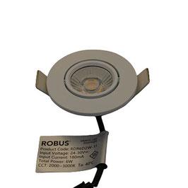 Inbouwspot Draco IP65 wit 6W LED Dim to warm 3000K-2000K CCT2