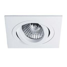 Inbouwspot 391/50 50mm Kantel Vierkant Mat Wit/ Zwart/Aluminium (zonder lichtbron)