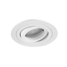 Inbouwspot 395/50 50mm Kantel Rond Mat Wit/zwart/ Aluminium (zonder lichtbron)
