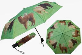 Taschen-schirm mit Alpakamotiv, 29cm lang