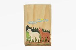 Holz Bleistifthalter Alpakas