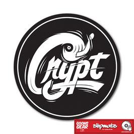 DJ CRYPT - LOGO SLIPMAT (GLAZED BOTTOM)