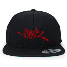 SNAK - TAG SNAPBACK (Red on Black)