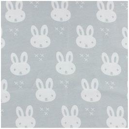 Sarouel Happy bunny gris ceinture et chevilles rose