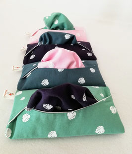 Lot de 4 mouchoirs multicolores et sa pochette