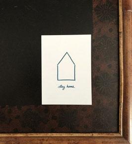 Postkarte STAY HOME