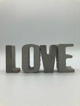 Beton-Buchstaben Set (Love)