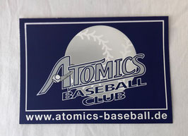 Aufkleber - Atomics Baseball Club (Navy - 14,8 x 10,5 cm)