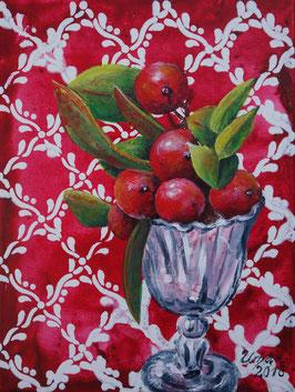 Rote Beeren im Glas