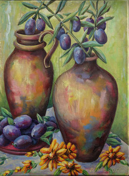 Vasen mit Oliven