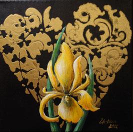 Herz mit gelber Iris