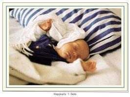 Geburtsanzeige - Buben  (Text/Bild)