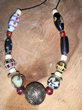 Wikinger Halskette mit Wikingerperle - Bronze