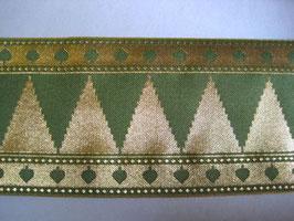 1m - Mittelalter,Borte, Olivgrün,Gold, ca. 95 mm breit