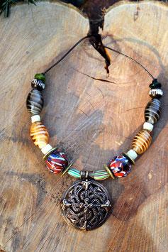 Halskette mit Wikinger Amulett - WKH013