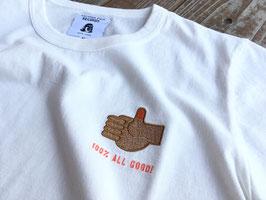 TACOMA FUJI RECORDS(タコマフジレコード) 100% ALL GOOD ! Embroidery Tee