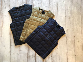 TAION(タイオン) Crew Neck Buttun Down Vest
