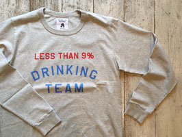 TACOMA FUJI RECORDS(タコマフジレコード) LESS THAN 9% DRINKING TEAM LS SHIRT