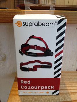 suprabeam(スプラビーム) ジョギングベルト+ヘッドバンドセット (Red)