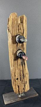 Weinhalter aus Eichenholz (ohne Wein)