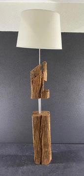 Stehlampe aus Eichenbalken