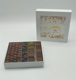"""Boîte Caméléon """"Joyeux anniversaire"""" Confettis"""