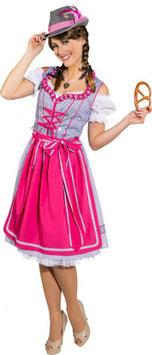 Dirndl, Liesa, hellblau-pink 9501