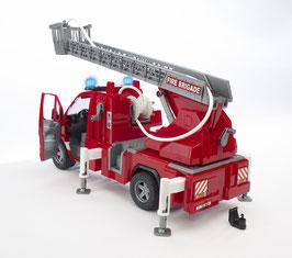 Sprinter 2532 Feuerwehr mit Drehleiter, Wasserpumpe, Stützen und Signalanlage