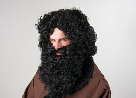 Set: Bart und Perücke, schwarz 015,01
