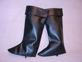 ein Paar schwarze Stiefelgamaschen 070,01