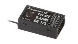 Graupner GR-12L HoTT - 2.4 GHz Empfänger 6 Kanäle