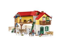 Schleich - 42407 Bauernhaus mit Stall und Tieren  NEU