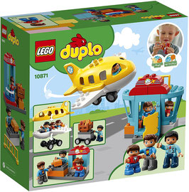 LEGO 10871 DUPLO Flughafen, Bauset mit Flugzeug für Kinder im Alter von 2 bis 5 Jahren