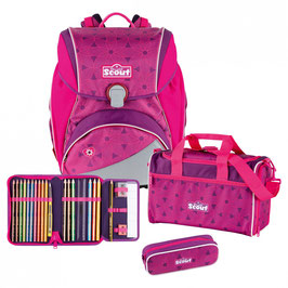 Scout Alpha Schulrucksack Set 4 tlg. Pink FLowers Art. Nr.: 74400693000 NEU 2019 Kollektion