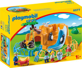 PLAYMOBIL 9377 - Zoo Spiel  1-2-3