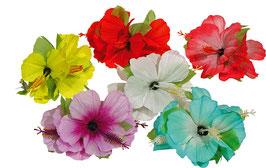 Blüte auf Haarspange, sortierte Farben  07800