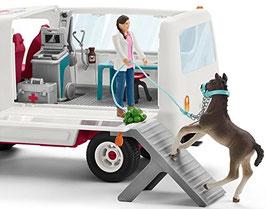 """Schleich 42370 """"Mobile Tierärztin mit Hannoveraner Fohlen,"""