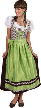 Dirndl, Rosel, lang, braun-grün 9696/52