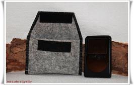 TAN - Lesegerät Tasche aus Filz / grau meliert - schwarz