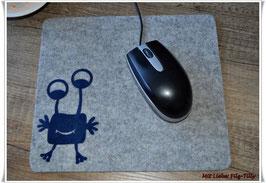 """Mousepad aus Filz """" Monster Archibal """""""