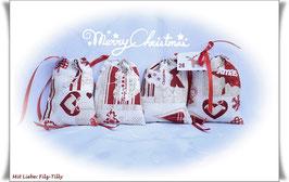 Adventskalender / 24 wundervolle Adventssäckchen / hübsche Weihnachtsmotive