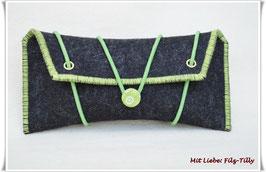 Frauenkram - Täschchen in anthrazit/grün