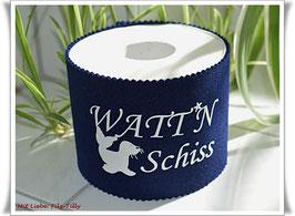 Manschette für die Klopapierrolle / originelle Geschenkidee / WATT`N Schiss / MARITIM