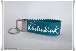 """Schlüsselanhänger aus Filz """" Küstenkind """""""