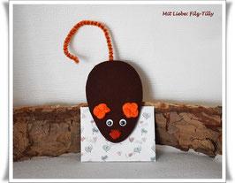 Maus aus Filz & Umschlag / Geldgeschenke / Maus 12